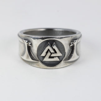 Valknut Battle Axe ring
