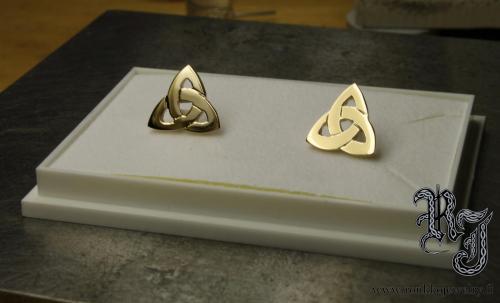 Celtic knot gold earrings