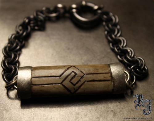 Reindeer bone bracelet