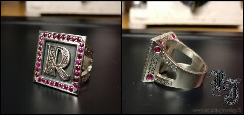 Family crest ring, rubies from Burma